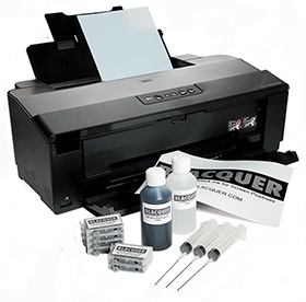 Epson printer with range of Blacquer products